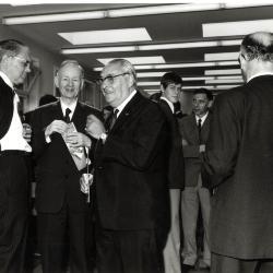 Opening atelier Deckmyn met onder meer Jozef Camerlynck, 1970
