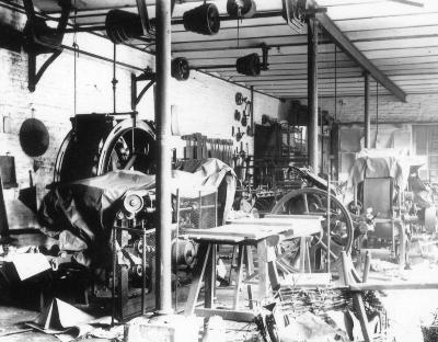 Werkatelier in een schrijnwerkerij