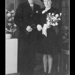 Huwelijk Michel Verschoot - Paula Wijdaeghe, Emelgem, 1945