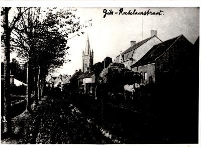 Gitsbergstraat in WOI, Gits, 1914-1918