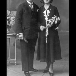 Huwelijk Cyriel Sabbe - Yvonne Windels, Ingelmunster, 1932
