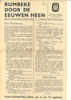 Krant 'Rumbeke door de eeuwen heen'