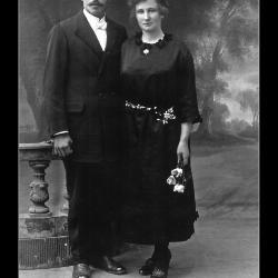 Huwelijk Ivo Vroman - Adriana Deleersnijder, Ingelmunster, 1923