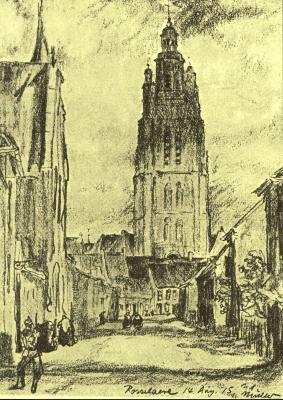 Pentekening Roeselare, 1915
