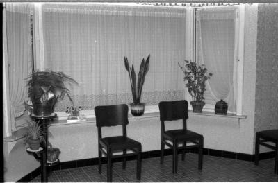 Interieur van woonhuis: erker, Izegem 1957