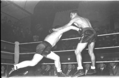 Fase tijdens bokswedstrijd, Izegem 1958