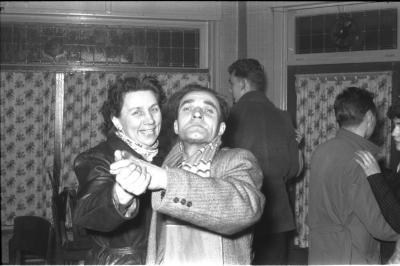 Fietsen op rollen: op de dansvloer, Izegem 1958