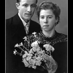Huwelijk Roger Windels - Yvonne Deckmyn, Ingelmunster, 1942