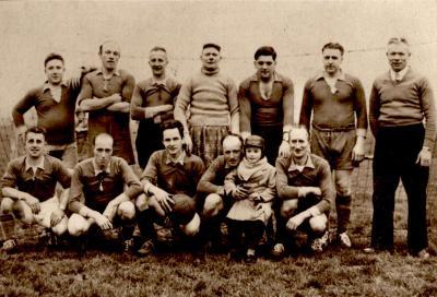 Groepsfoto voetbalclub Gits, Gits, 1958