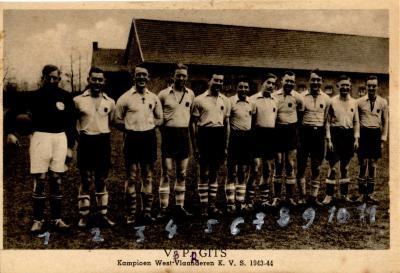 Voetbalclub VP Gits (kampioen van West-Vlaanderen), Gits, 1943-1944