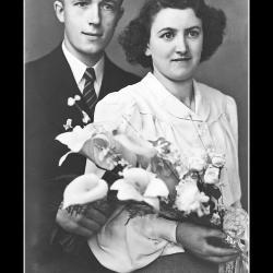 Huwelijk André Gerard Vervaeke - Elza Maria Bovyn, Ingelmunster, 1944