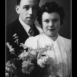 Huwelijk Maurits Richard Bovyn - Maria Germana Dobbels, Ingelmunster, 1944.