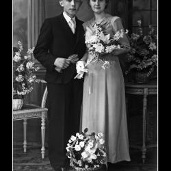 Huwelijk André Soenens - Marie-José Deschuytere, Ingelmunster, 1944