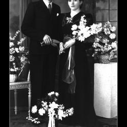 Huwelijk Marcel Vansteenkiste - Magdalena Soenens, Ingelmunster, 1944