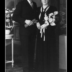 Huwelijk Constant Jeroom Baeckelandt - Irèna Martha Soenens, Ingelmunster, 1945