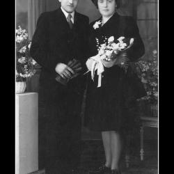 Huwelijk Michel Vermeersch - Marguerite Verschoot, Ingelmunster, 1945