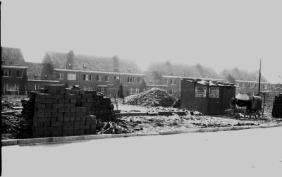 Bouwwerf: grond van Rika, Izegem 1958