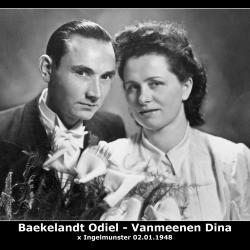 Huwelijk Odiel Marcel Baekelandt - Dina Sophia Vanmeenen, Ingelmunster, 1948