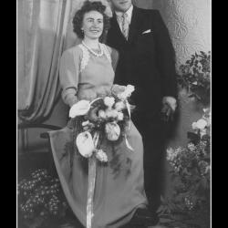 Huwelijk Urbain Vermeersch - Margareta Verscheure, Ingelmunster, 1949