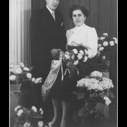 Huwelijk Michaël Marcel Verstraete - Alice Elisa Cottenie, Ingelmunster, 1953