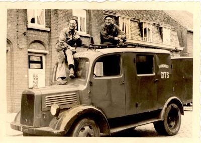Brandweerwagen, Hooglede-Gits, 1955