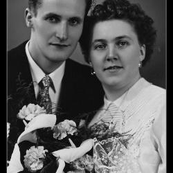 Huwelijk Florent Verscheure - Agnes Delaere, Ingelmunster, 1954