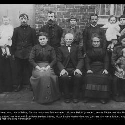 Familiefoto Carolus Sabbe, 1915