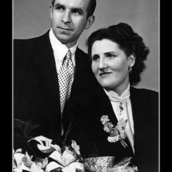 Huwelijk Omer vanderzyppe - Maria Vanrijckeghem, Meulebeke, 1953