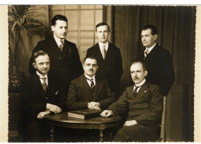 Groepsfoto onderwijspersoneel stadsschool I, 1938