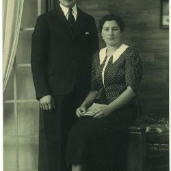 Huwelijksfoto van Bruno Windels en Maria Deceuninck
