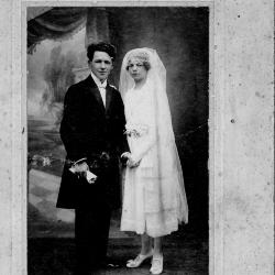 Huwelijksfoto van Florent Laleman en Helena Ghekiere