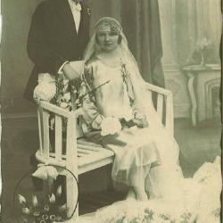 Huwelijksfoto Martin Vantieghem en Rachel Rapovie.