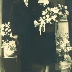 Huwelijksfoto Camiel Vantieghem en Irma Deblaere