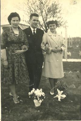 Huwelijksfoto, Gits, 1960