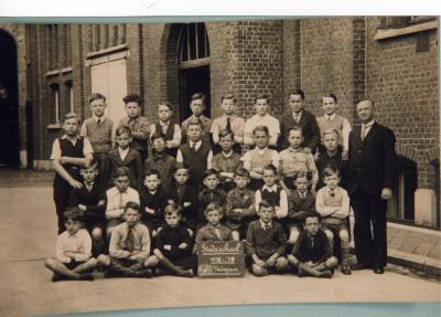 Klasfoto, 4de en 5de leerjaar stadsschool I, 1938-1939
