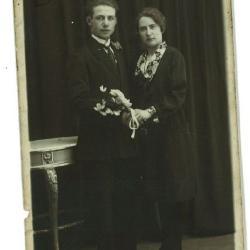Huwelijksfoto Constant Carrette en Yvonne Parmentier