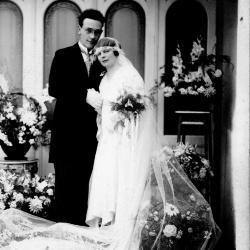 Huwelijksfoto René Martin en Maria Ghekiere