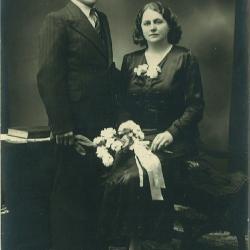 Huwelijksfoto Hostekint en Deblaere
