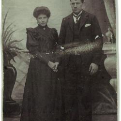 Huwelijksfoto Remi Parmentier en Pharilde Vroman.